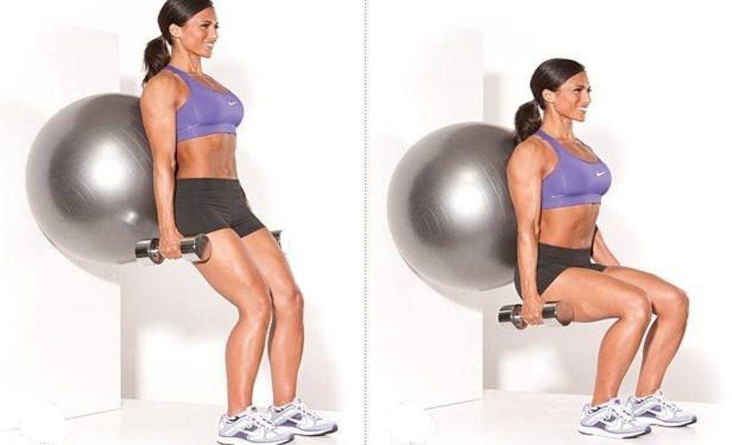 squat-fitball